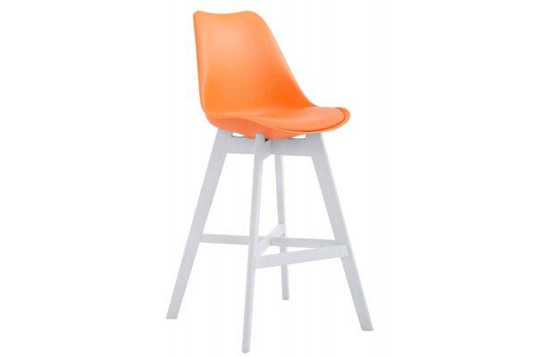 Barhocker Cannes Kunststoff Weiß orange