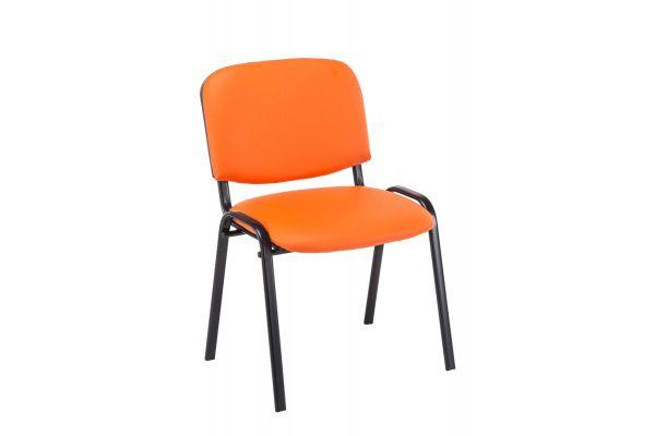 Besucherstuhl Ken Kunstleder orange