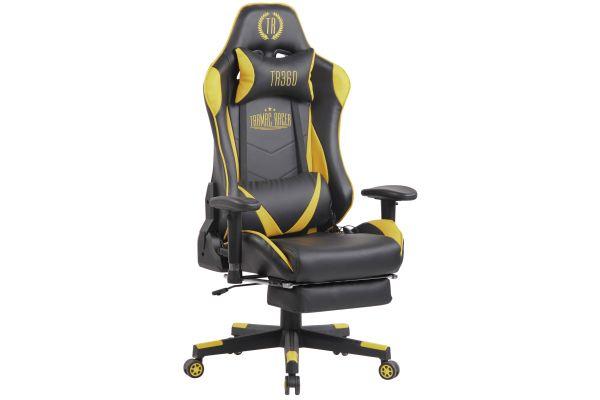 Racing Bürostuhl Lux mit Massagefunktion schwarz/gelb