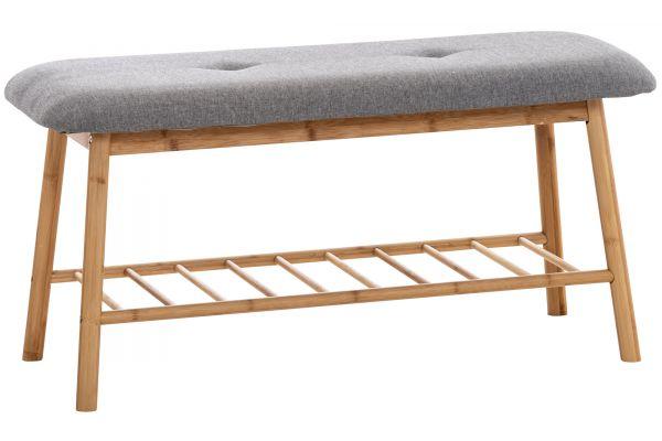 Sitzbank Marne Stoff 90 cm grau