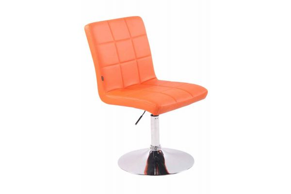 Stuhl Ricky Kunstleder orange