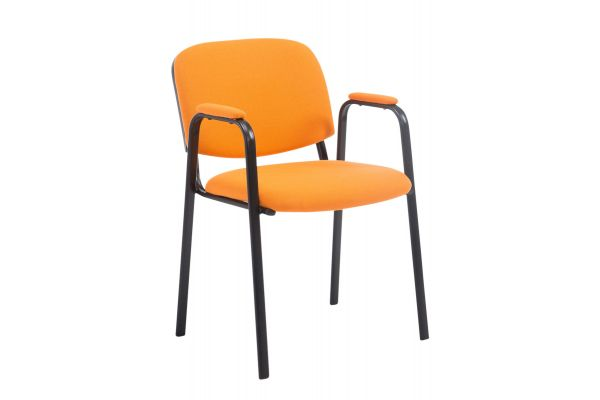 Besucherstuhl Ken PRO Stoff orange